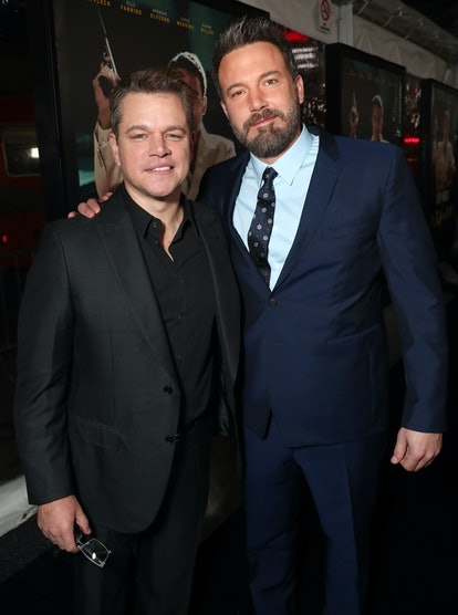 """Matt Damon and Ben Affleck attend the premiere Of Warner Bros. Pictures' """"Live By Night"""""""