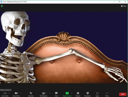 These Halloween Zoom backgrounds include creepy skeletons.