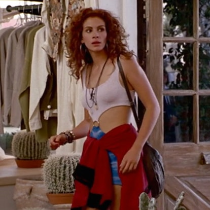 Channel Vivian Ward's fiery red curls in Pretty Woman for a curly hair Halloween costume