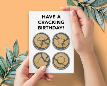 The Dalgona cookies from 'Squid Game' are on some 'Squid Game' birthday cards on Etsy.