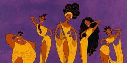 The muses in the movie Hercules are a great costume idea for curly hair