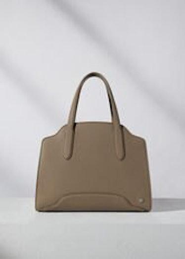 Loro Piana's Sesia Bag in warm mastic.