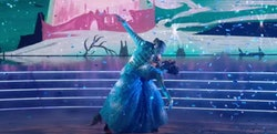 """JoJo Siwa and Jenna Johnson danced to """"A Dream Is a Wish Your Heart Makes"""" from """"Cinderella"""" on Danc..."""