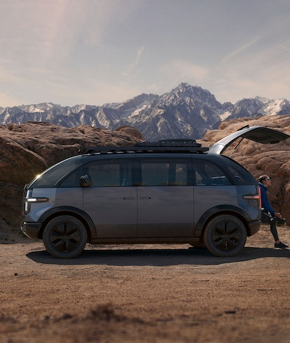 Canoo's lifestyle vehicle, an electric van set to be released in 2022. EV. Electric vehicles. EVs. A...