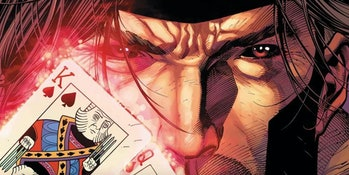 Gambit and his beloved playing cards in X-Men: Gold Vol. 2 #4