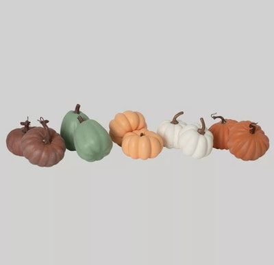 pack of ten pastel foam pumpkins from target