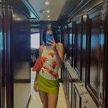 Kendall Jenner wearing Birthday Girl Shop poppy tank