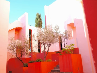 This Airbnb in Spain looks like 'Squid Game' with its colorful staircases.