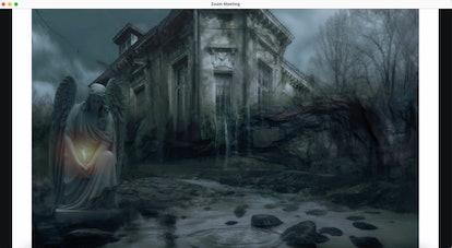 Haunted house zoom background: gothic fantasy