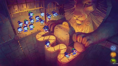 A screenshot of a crowd of Zoombinis.