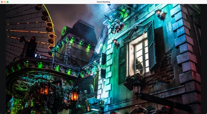 Haunted house zoom background: colorful haunted house
