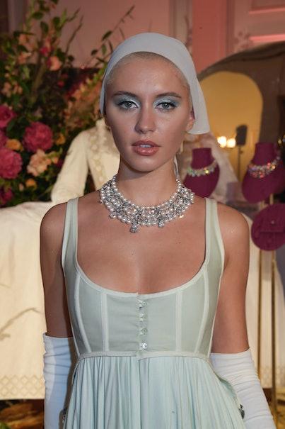 Iris Law celebrates Frieze Week and Bvlgari's High Jewelry at a gala at Kensington Palace on October...