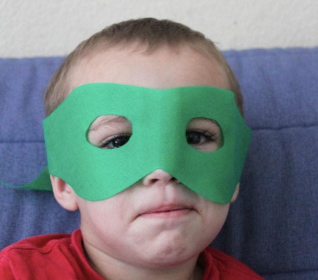 Lego face mask craft