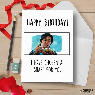 This Dalgona candy card is one of many 'Squid Game' birthday cards on Etsy.