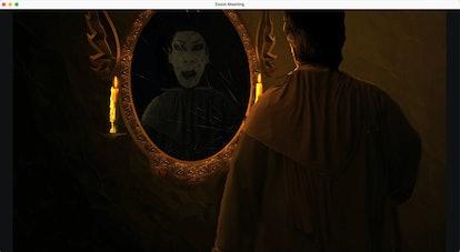 Haunted house zoom background: vampire