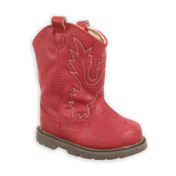 Miller Toddler Red Cowboy Boots with Round Toe