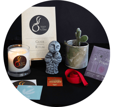 a miscarriage care package including a Jizo statute, a buddhist figure said to protect unborn childr...