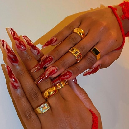 Megan Thee Stallion's Halloween nail art designs have already been declared the winner of the 2021 s...