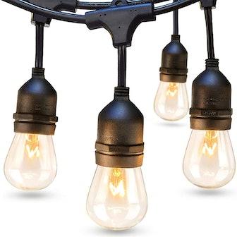 addlon Weatherproof Outdoor String Lights (48 Ft)