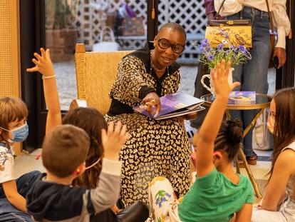 Cynthia Erivo reads her new book, 'Remember to Dream Ebere,' to young fans.