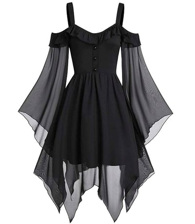 black gothic looking dress for fairy costume