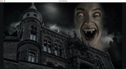 Haunted house zoom background: vampiric castle