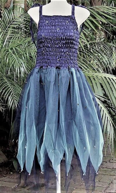 blue taffeta fairy costume