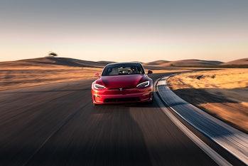 Tesla Model S in action.