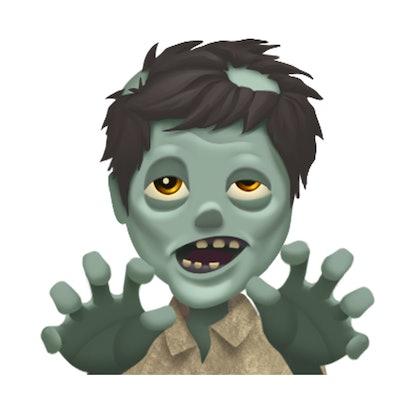 Halloween spooky emoji: zombie