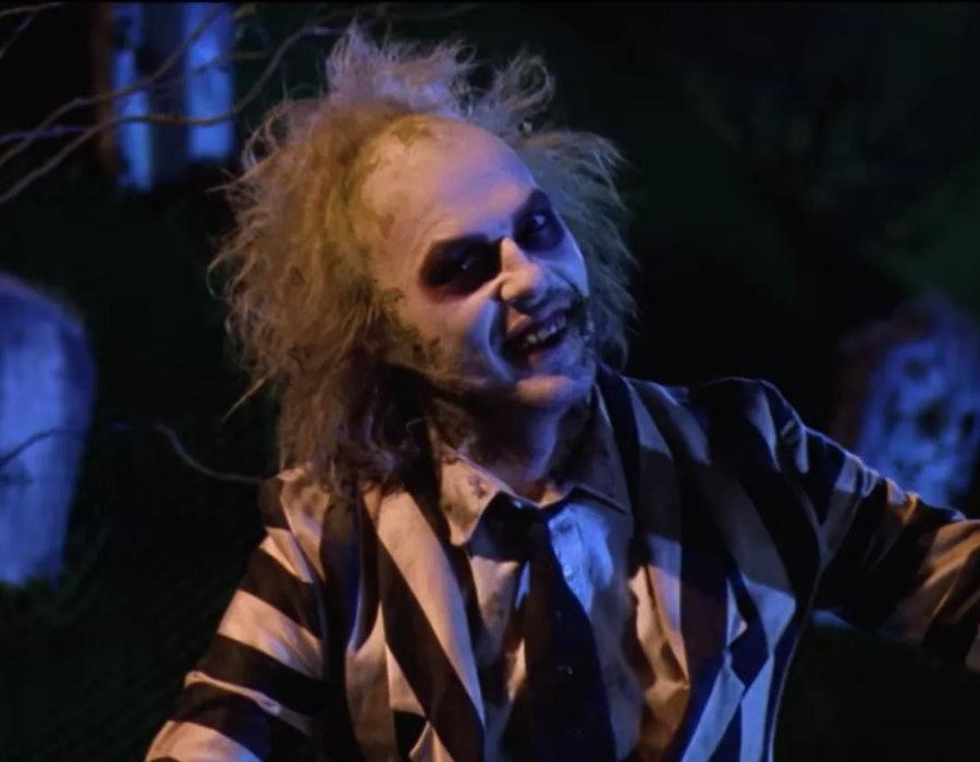 Michael Keaton plays the titular Beetlejuice.