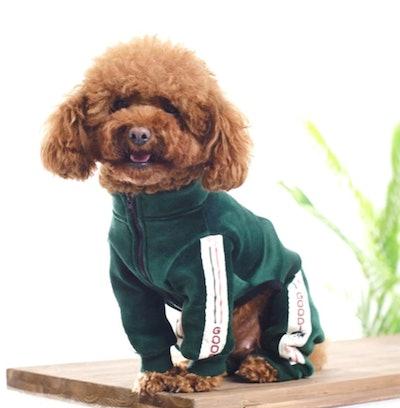 Dog Apparel Velvet Sport Jumpsuit