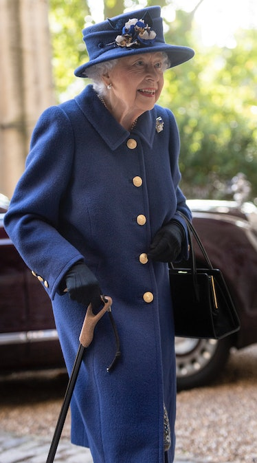 Queen Elizabeth II attends a service of Thanksgiving to mark the centenary of The Royal British Leg...