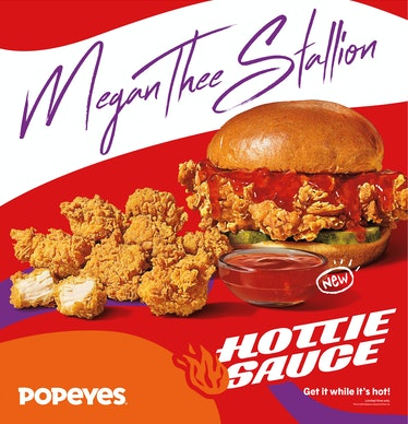 Here's the scoop on Popeyes' Megan Thee Stallion Hottie Sauce and Merch lineup.