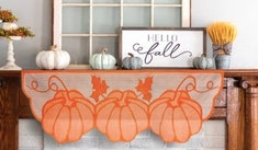 pumpkin banner for thanksgiving