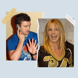 Justin Timberlake and Britney Spears in 2002.