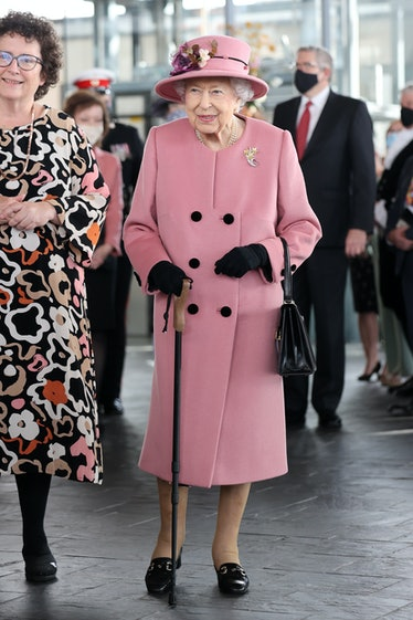 Queen Elizabeth II attends the opening ceremony of the sixth session of the Senedd