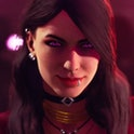 A screenshot of a character from 'Vampire: The Masquerade - Bloodlines 2'