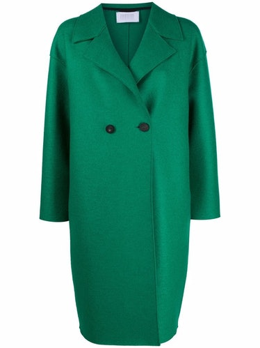 Harris Wharf London double-breasted tailored coat