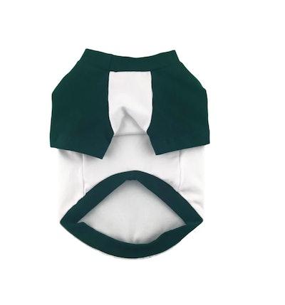 Contrasting Raglan Sleeves Spandex Jersey Dog Top