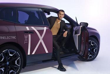 Christian Cowan in an iX BMW