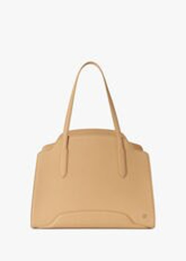 Loro Piana's XL handbag in sunny beige.