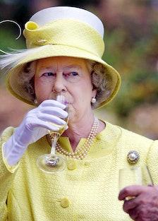 British's Queen Elizabeth II samples a Barrosa wine