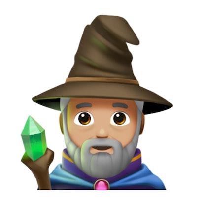 Halloween spooky emoji: wizard