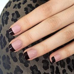 nail inspiration black French mani