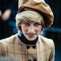 Diana Princess of Wales during a visit on November 25, 1982 to Barmouth in Wales