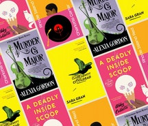 'Mystery in G Major,' 'City of the Dead,' 'Rhode Island Red,' and 'A Deadly Inside Scoop' are all mu...