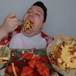 Mukbanger Nikocado Avocado eating massive quantities of food