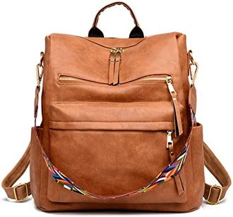 ZOCILOR PU Leather Backpack