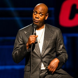 Dave Chapelle in his 'Dave Chappelle: The Closer' Netflix stand-up comedy special via Netflix's pres...