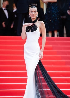 """Bella Hadid attends the """"Annette"""" screening and opening ceremony during the 74th annual Cannes Film ..."""